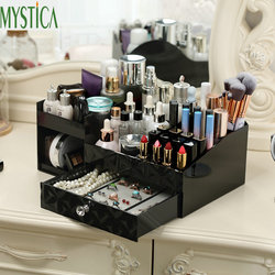 Home Cosmetic Storage Box Plastic Desktop Drawer Makeup Organizer Case Dresser Jewelry Lipstick Holder Skin Care Finishing Boxes