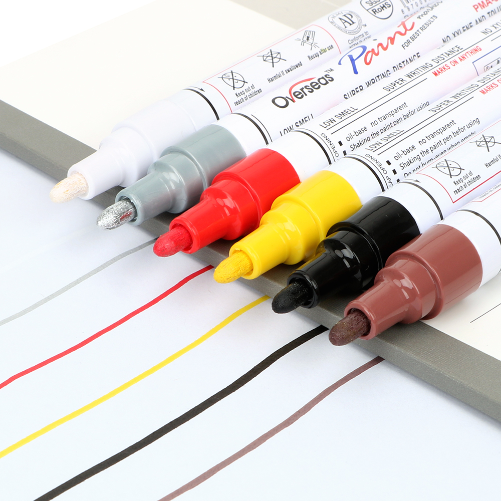 Car Marking Pen For Car Tires Car-styling Auto Painting Pen Maintenance Marker Paint 6 Colors Car Care Tools