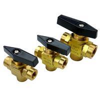 1/8 1/4 3/8 NPT L Port Brass Ball Valve 1500 PSI Plumbing Propane Gauge
