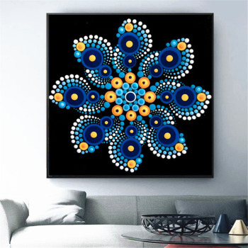HUACAN Diamond Painting Mandala Full Square Diamond Embroidery Sale Flower Rhinestone Picture 5D DIY Diamond