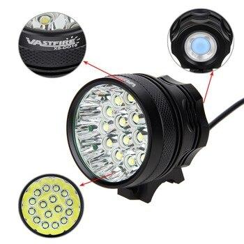 Lumières De Vélo Lumineuses | Lampe De Vélo Avant étanche Lumineuse 16x T6 LED Lampe De Vélo Avant 3 Modes Torche De Vélo Vtt + Batterie Rechargeable + Chargeur