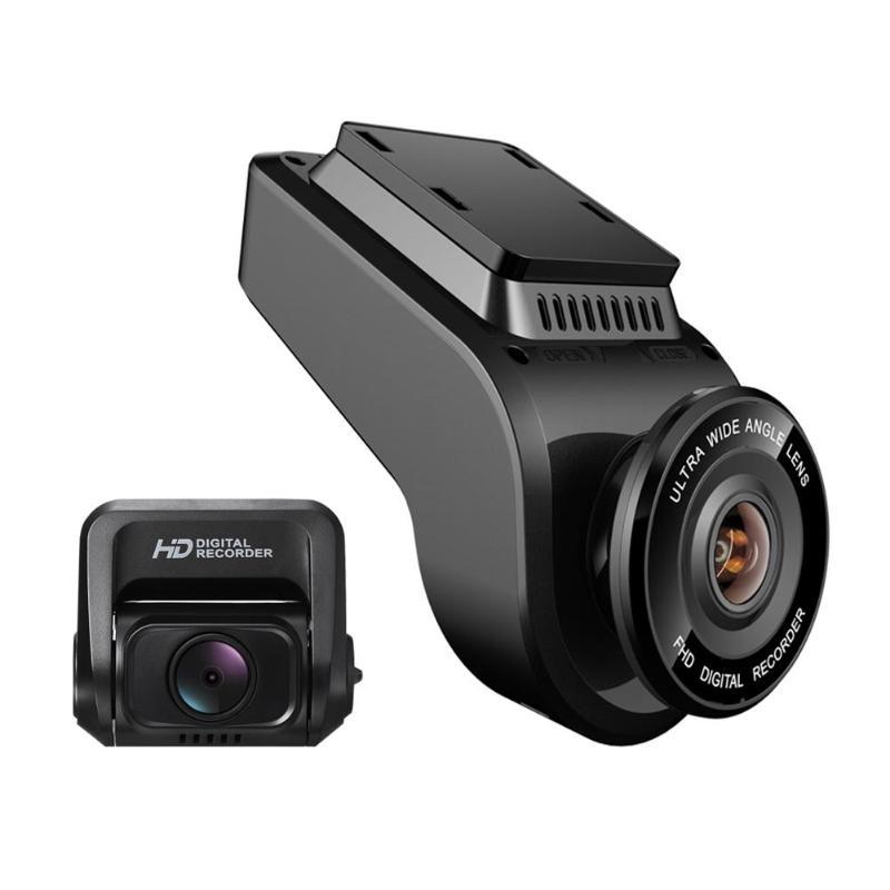 VODOOL T691C Mini 2 4 k 2160 p/1080 p Full HD Câmera Do Carro DVR Gravador de 170 Graus traço de Lente dupla Cam WiFi GPS Visão Noturna Dashcam