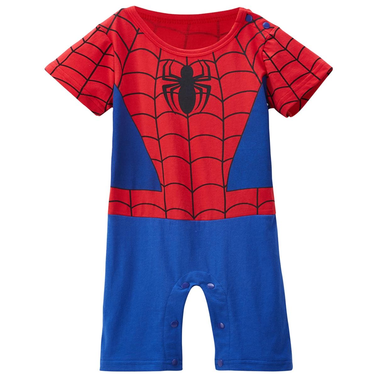 Baby Jungen Mädchen Spiderman Kostüm Neugeborenen Avengers Strampler Kleinkind Party Overall Superhero Cosplay Overall Infant junge kleidung