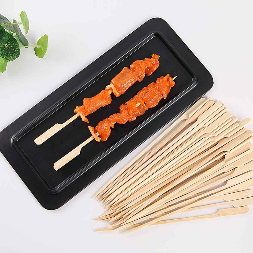 30PCS Sticks BBQ Skewers Bamboo Skewers Bamboo Sticks Vegetables and fruit Sticks Outdoor Barbecue Tools