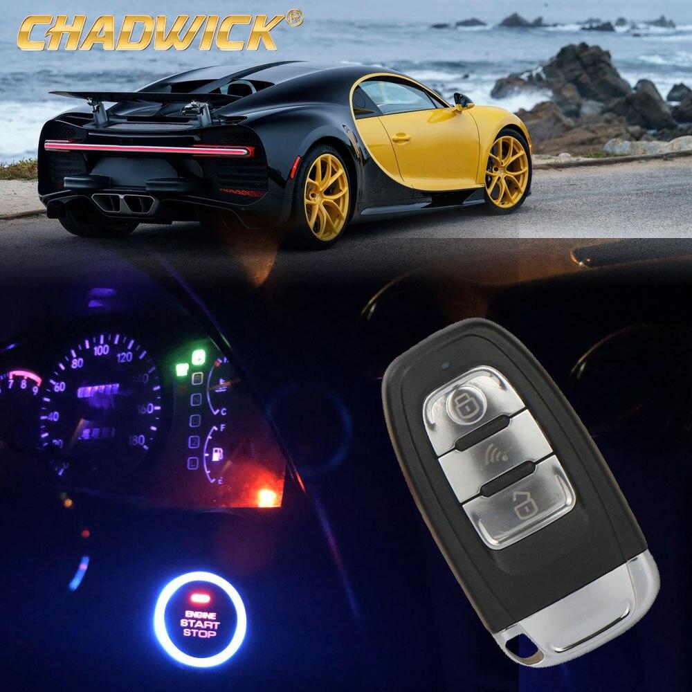 Système D'alarme de voiture auto voiture de sécurité intelligent alarmes passif d'entrée sans clé auto verrouillage central bouton-poussoir start stop PKE CHADWICK 8003