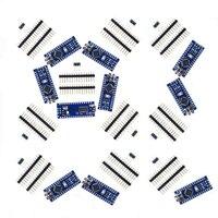 10x Nano V3 module ATMega328 P CH340G 16MHz miniUSB compatible Data Cables     -