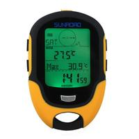 Multifunction LCD Digital Altimeter Barometer Compass Portable Waterproof FR500 Outdoor Camping Hiking Climbing Altimeter Tools