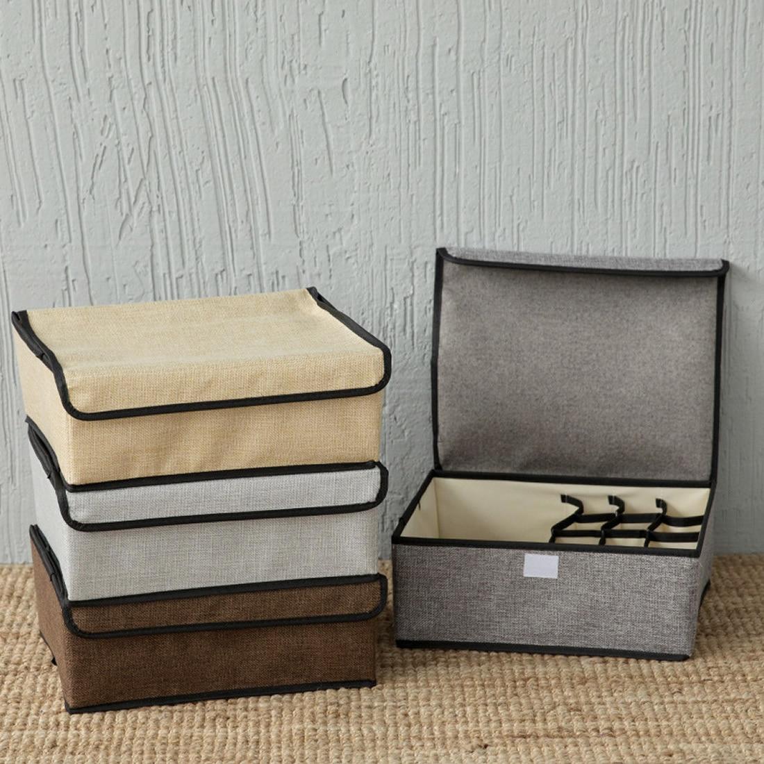 New Non Woven Fabric Folding Underwear Storage Box Bedroom: Home Clothing Wardrobe Storage Boxes Drawer Organizers