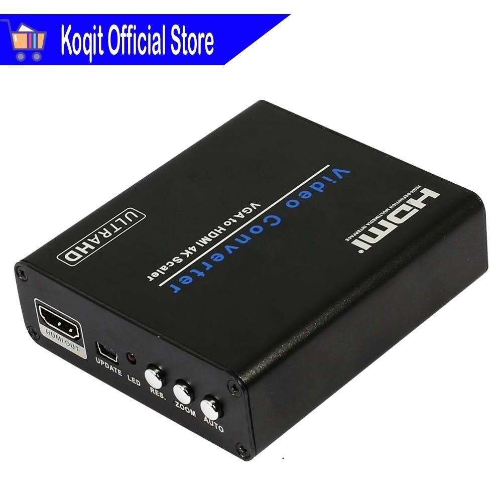 Vidéo Convertisseur VGA À HDMI 4 K Scaler HD Audio Analogique À Numérique Conversion 4 K * 2 K HDMI dehors Pour PC Portable VGA Moniteur Ultra HDTV