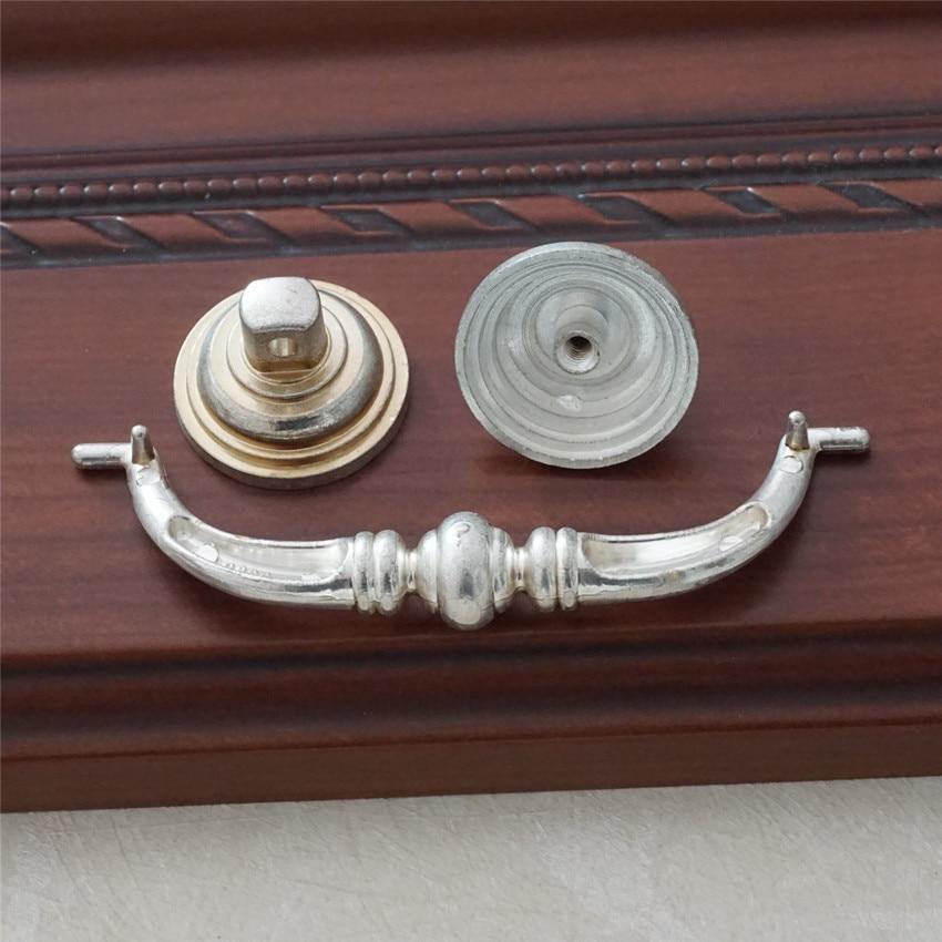 3 75 39 39 4 25 39 39 Retro Drop Pull Anituqe Silver Drawer Handles Bail Pulls Kitchen Cabinet Pulls Dresser Handles Decor Hardware in Door Handles from Home Improvement