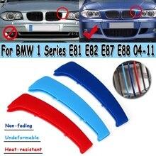 2 Стиль 3D Sport M Стиль решетка гриль крышка с защелкой Накладка для хэтчбеков BMW серий 1 E81 E82 E87 E88 2004 2005 2006 2007 2008 2009 2010 2011