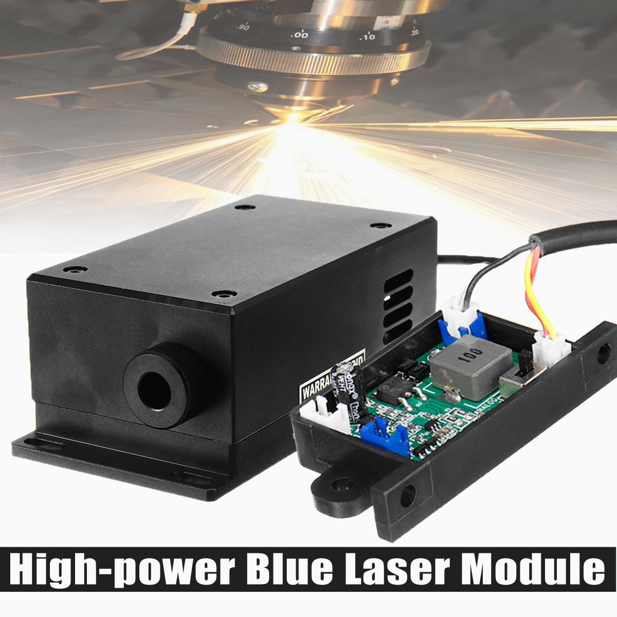 17 W Cabeça Do Laser de Alta Potência Módulo de Gravação Ajustável Focal 450/445nm 17000 mw Módulo de Laser Azul de Madeira DIY máquina de Gravura Em metal