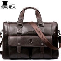 2019 NEW Fashion Business Bag Big Horizontal Version Men Handbag Casual Thicken Leather Men's Travel Bags