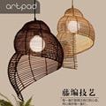 Большой размер американский Креативный дизайн искусства бамбуковая Подвесная лампа плетеные подвесные лампы для ресторана гостиной балко...