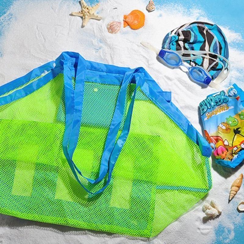 Portable Beach Bag Foldable Mesh Swimming Bag For Children Beach Toy Baskets Storage Bag Kids Outdoor Swimming Waterproof BagsPortable Beach Bag Foldable Mesh Swimming Bag For Children Beach Toy Baskets Storage Bag Kids Outdoor Swimming Waterproof Bags