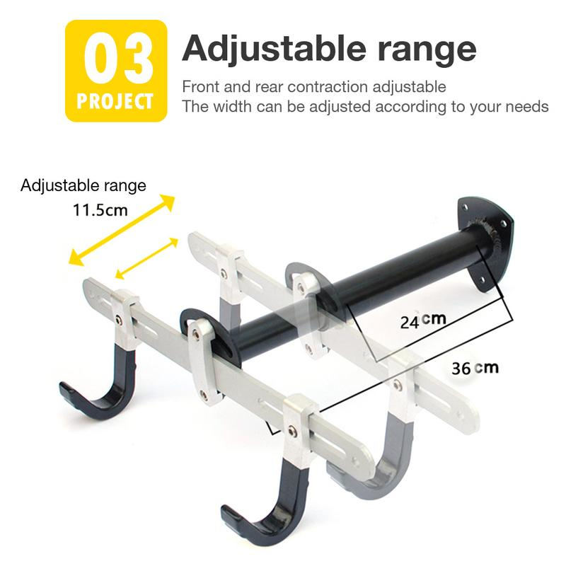 Bicycle Rack Garage Storage Adjustable Bicycle Trailer Wall Mounted Bike Hanger Vertical Hook For Indoor Shed Child Balance Bike