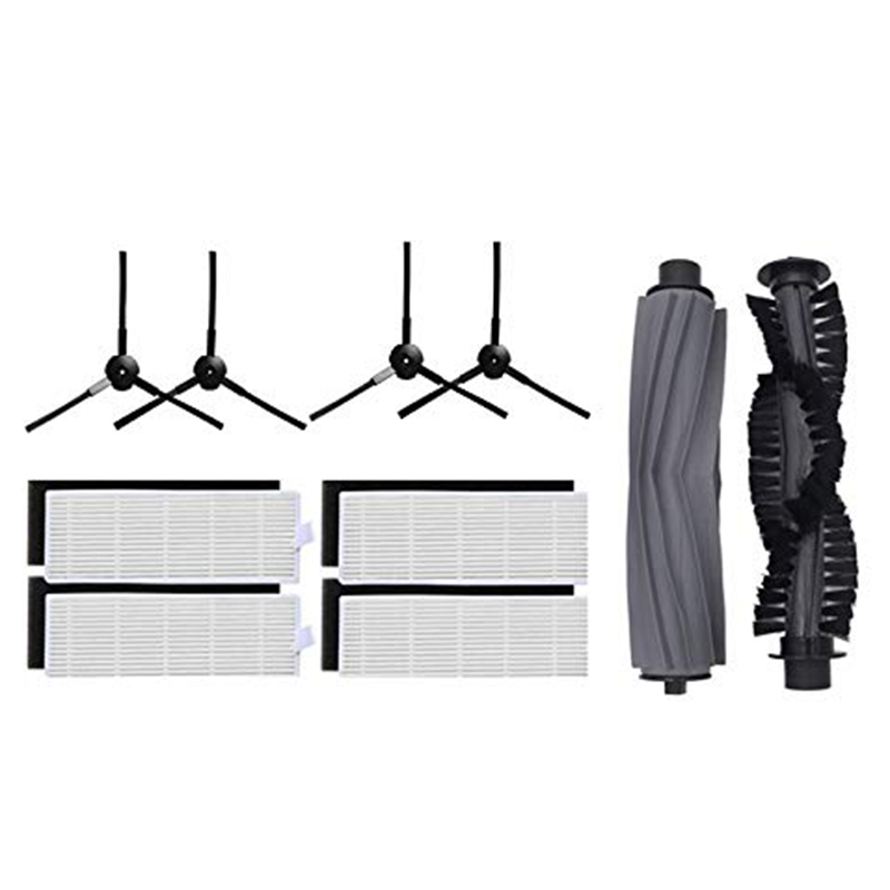 1 Pair Main Brush + 4Hepa Filter + 4Side Brushes For Chuwi Ilife A6 A8 X620 X623 Robot Vacuum Cleaner Parts Ilife A8 Accessori1 Pair Main Brush + 4Hepa Filter + 4Side Brushes For Chuwi Ilife A6 A8 X620 X623 Robot Vacuum Cleaner Parts Ilife A8 Accessori