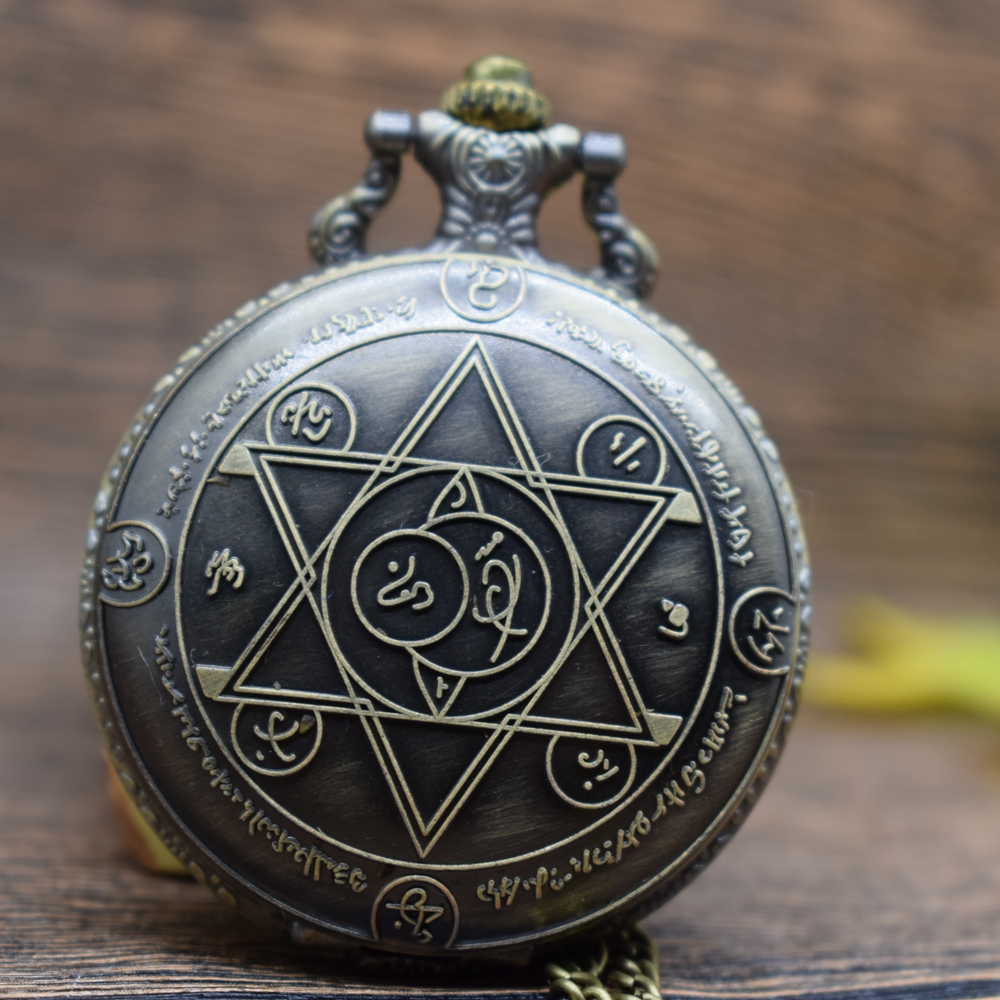 Pocket & Fob Watches Vintage Fullmetal Alchemist Anime Cosplay Pocket Watch Necklace Pendan  Women/Mens  Pendant Watch Gift