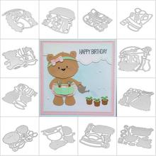 Metal Cutting Dies Animal Christmas Stamp And Cut Mold New Scrapbooking Cut Die Background Art Gift цены