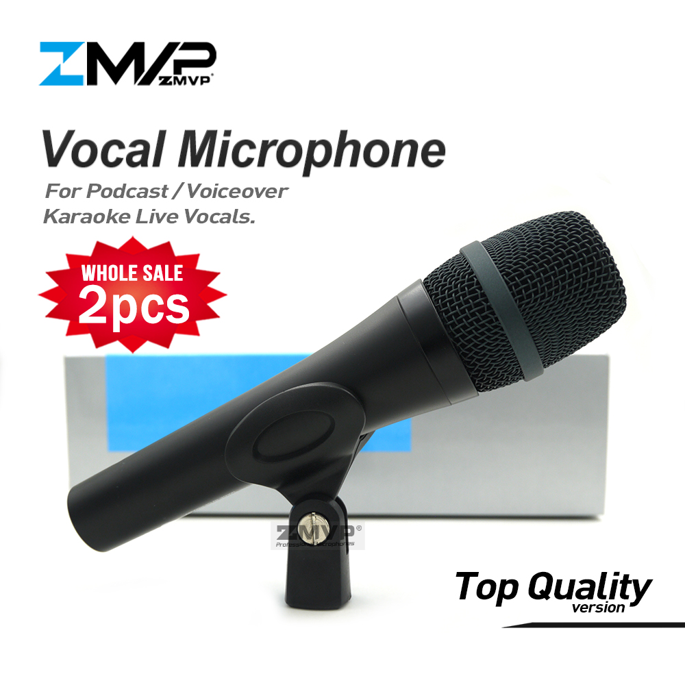 цена на 2pcs/lot Top Quality 945 Professional Live Vocals Wired Microphone Karaoke Dynamic Microfone Podcast Microfono Stage Mike Mic