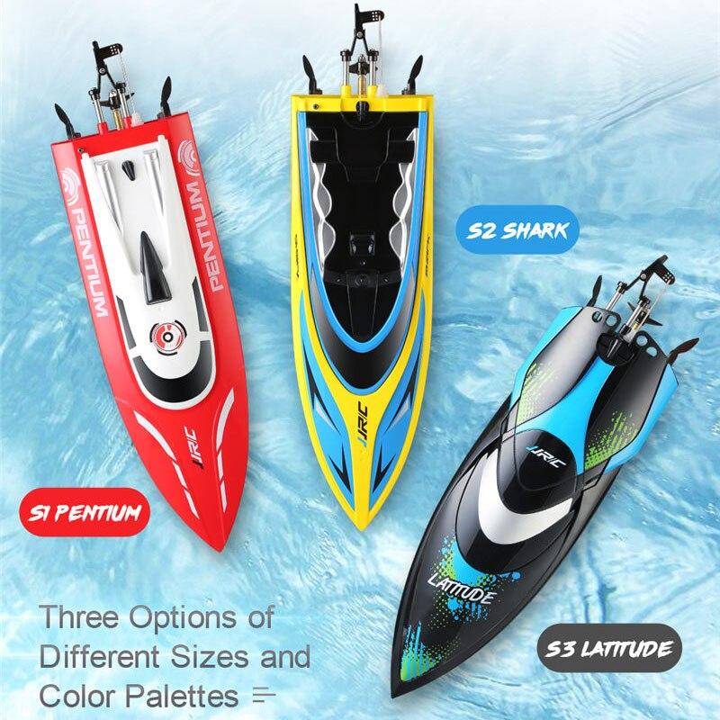 Jjrc Rc лодка Pentium Shark Latitude 2,4 ГГц 25 км/ч высокая скорость мини гоночная скорость лодка пульт дистанционного управления игрушка для детей Rc модел...