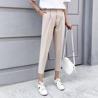 2019 новые женские штаны, весенне-осенние однотонные шаровары с эластичной резинкой на талии, Женские повседневные свободные женские брюки с ...