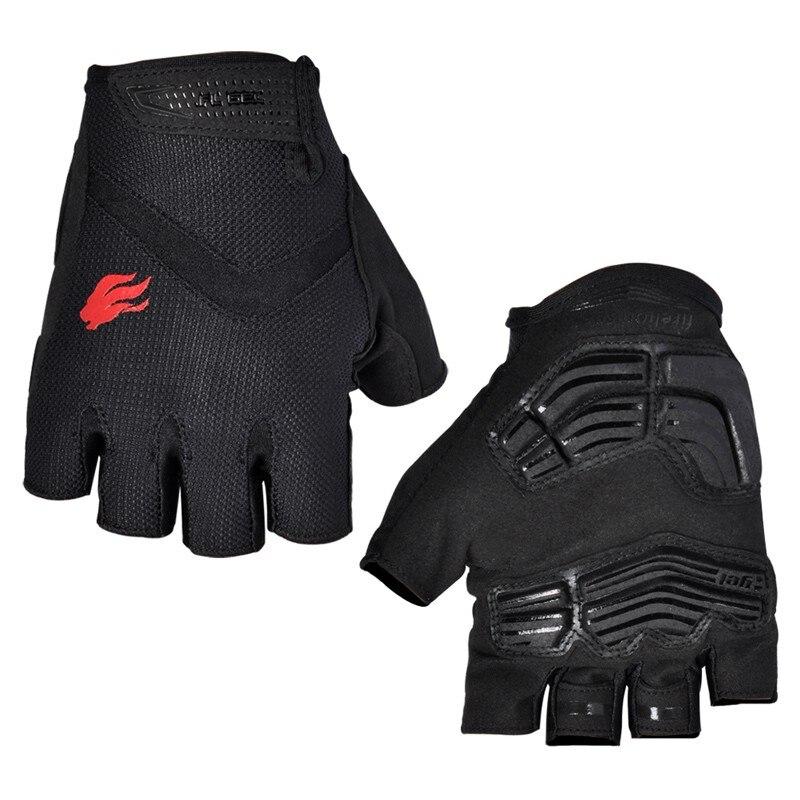 FIRELION guantes de ciclismo para hombres y mujeres GEL deporte bicicleta de montaña guantes de bicicleta de carretera mitad Mitad de dedo MTB guantes mitones