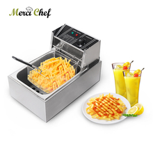ITOP 8L Single Tank Electric Deep Fryer Stainless Steel Frying machine French fries Chicken 3250W