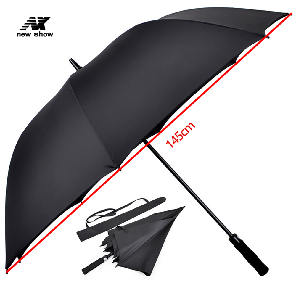 Nx <font><b>Big</b></font> <font><b>Golf</b></font> <font><b>Umbrella</b></font> Men Large Rain <font><b>Umbrella</b></font> Women Strong Windproof Long Handle Waterproof Solid High Quality Semi-automatic image