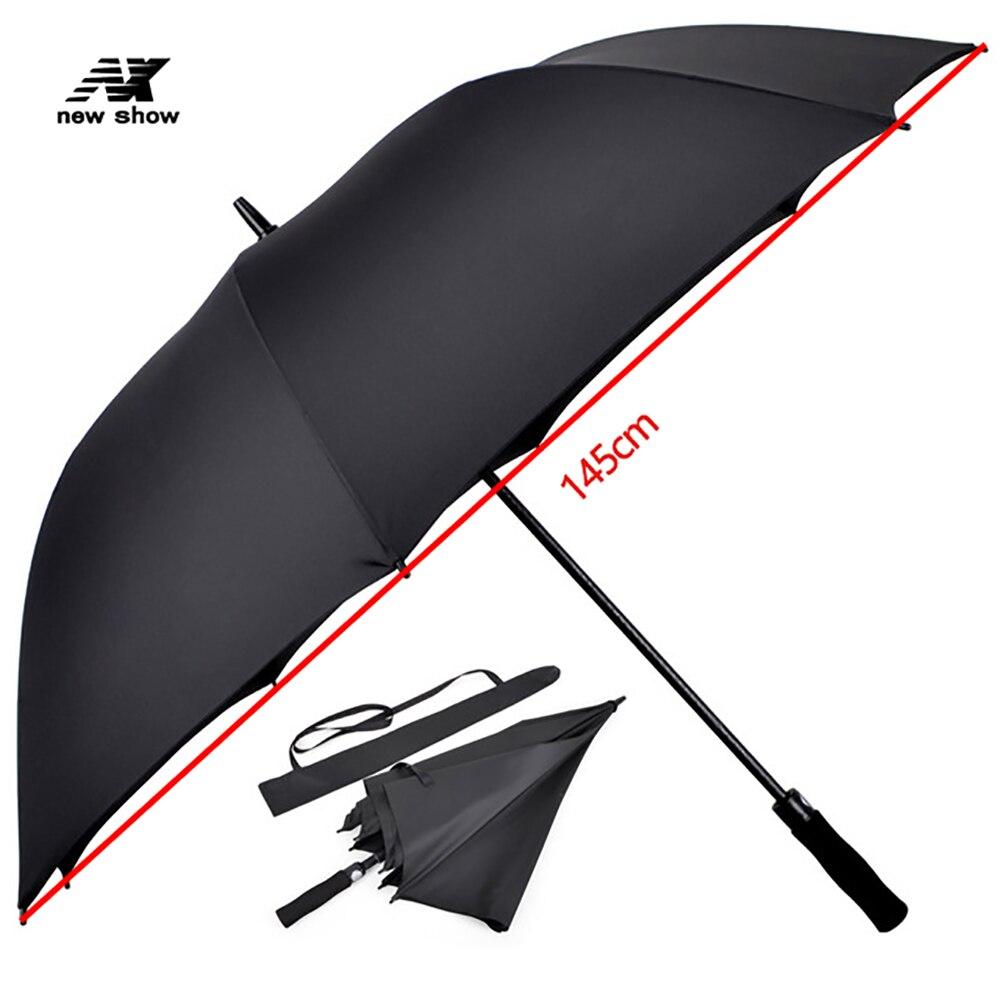 Nx grand parapluie de Golf hommes grand parapluie de pluie femmes forte coupe-vent longue poignée imperméable solide de haute qualité semi-automatique