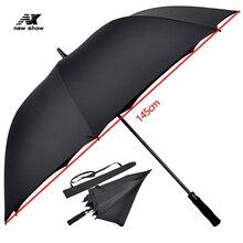 Большой зонт для гольфа Nx для мужчин и женщин, прочный водонепроницаемый однотонный Полуавтоматический зонт с защитой от ветра и длинной ручкой