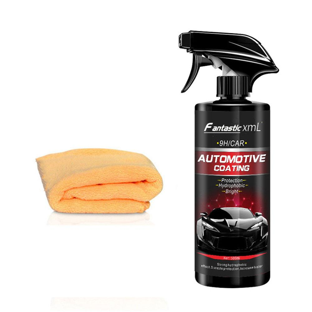 Liquid Ceramic Spray Coating Car Polish Spray Sealant Top Coat Quick Nano Coating 500ML Car Spray Wax Car Cleaning For Car-in Gloss Seal for Car Paints from Automobiles & Motorcycles
