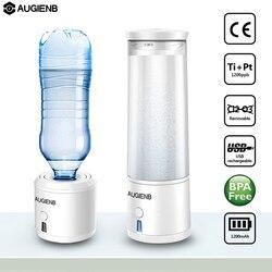 AUGIENB SPE/PEM мембраны H2 богатые водородом бутылка для воды Электролизный ионизатор Генератор USB Перезаряжаемые удаления O3 CL2