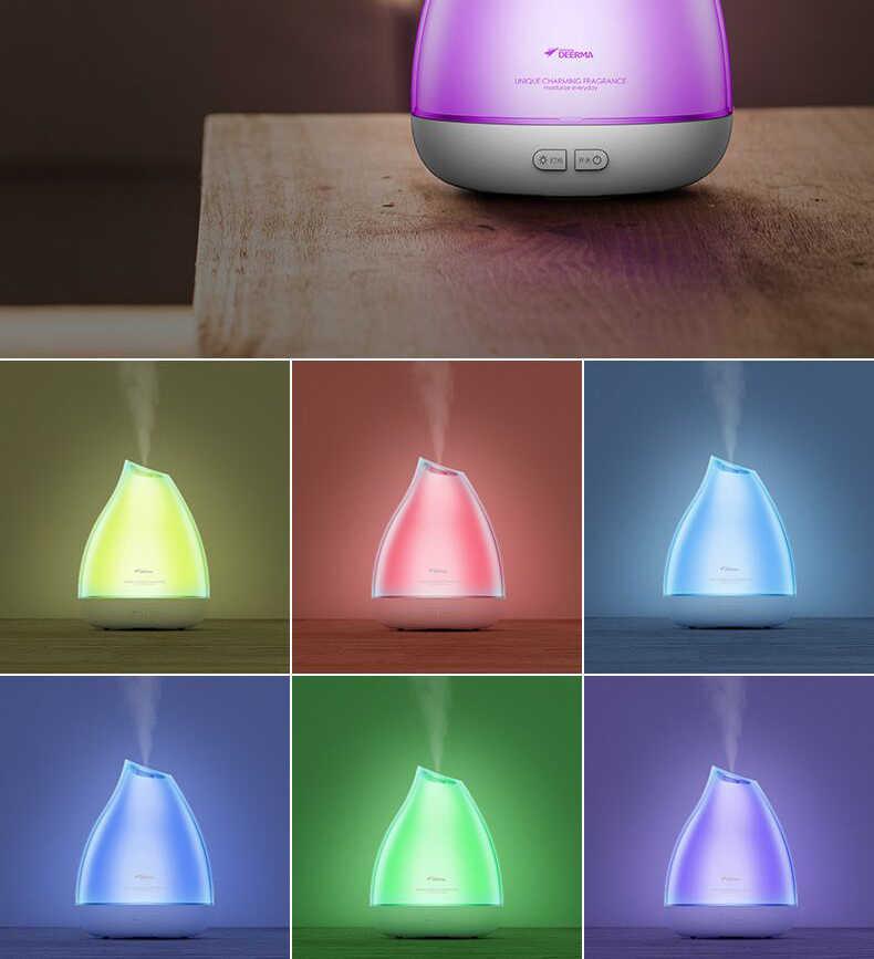 Новый Xiaomi Deerma Увлажнитель Арома диффузор ароматерапия Humidificador Huile Essentiel Fogger светодиодный Цвет Изменение для спа