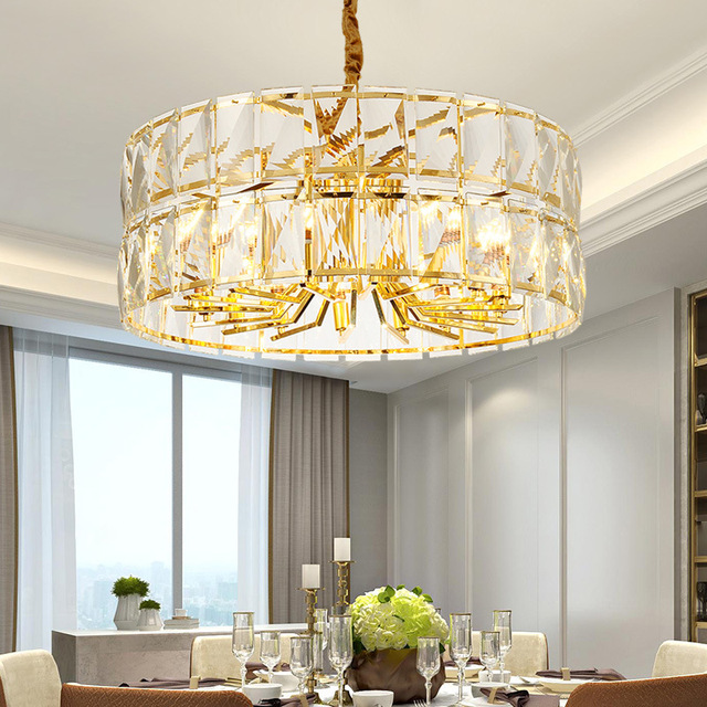 New Post modern Chandelier Atmosphere Light luxury Crystal lamp Fashion Model room Living room Led Lamps and lanterns Home
