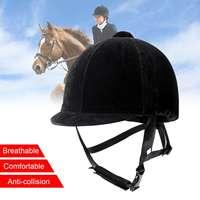 Equestrian Ultralight Horse Riding Helmet or Riding Horse Helmet Safety Helmet 56 60CM Removable Adjustable Safe Helmet Black