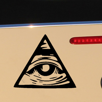 HotMeiNi Car Sticker Jdm styling Window Bumper Decal Vinyl Truck Fridge Waterproof Illuminati All Seeing Eye 13cm hotmeini 13cm x 13cm car stickers pink peace symbol vinyl sticker helmet bumper caravan laptop car styling waterproof decal