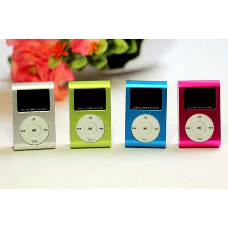 Mini leitor de mp3 bolso áudio usb clipe mp3 player tela lcd suporte 32 gb micro sd tf cartão rádio walkman música legendas 6 cores