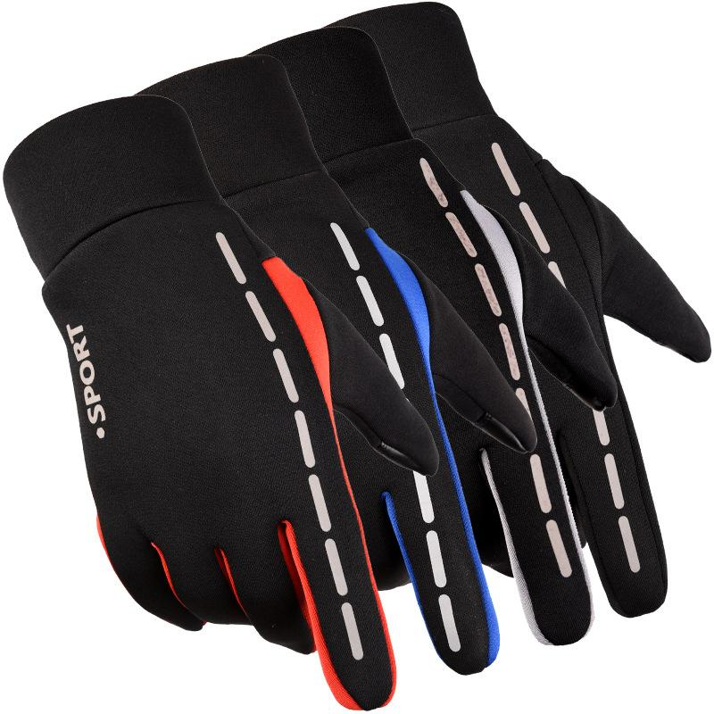 Cycling touch screen Gloves waterproof  bicycle winter reflective outdoor gloves for men women plus velvet glove Full Finger