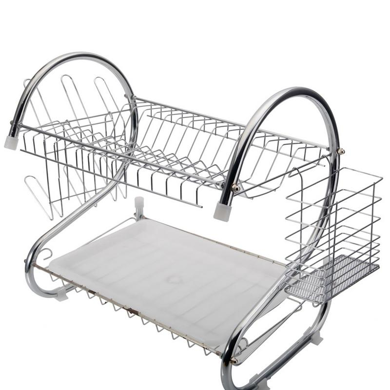 Multifunctional S-Shaped Dual Layers Bowls Dishes Chopsticks Spoons Collection Shelf Dish Holders Storage Basket Rack OrganizerMultifunctional S-Shaped Dual Layers Bowls Dishes Chopsticks Spoons Collection Shelf Dish Holders Storage Basket Rack Organizer
