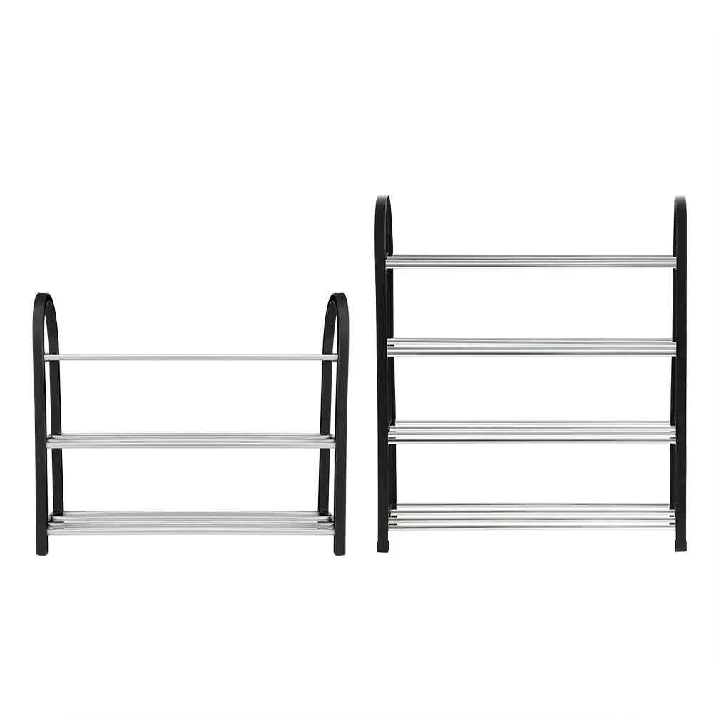 3/4 Tiers Shoes Rack Standing Shoe Rack DIY Home Organizer Shoes Shelf Space Saving Home Decor