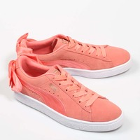 91a575195aab6a PUMA BASKET BOW WNS PINK Suede Exterior Sneakers Pink Woman Rubber Sole  Shoes Women Casual Fashion