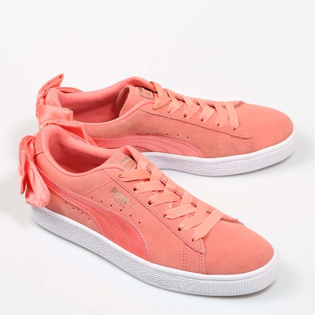 84a4717f79a PUMA BASKET BOW WNS PINK Suede Exterior Sneakers Pink Woman Rubber Sole  Shoes Women Casual Fashion 66468 367317