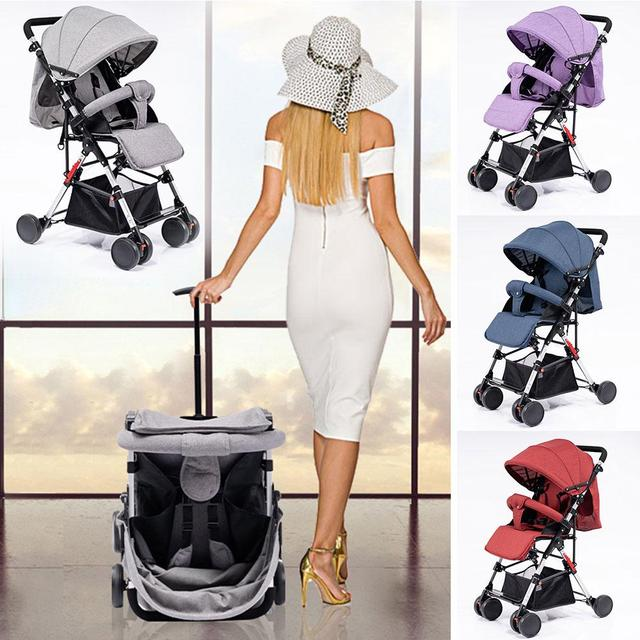 Kidlove Pull Rod Type High View Baby Trolley Shock Absorber Baby Stroller 0-3 years old high landscape children umbrella cars