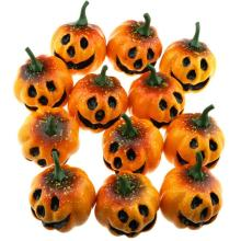 Gresorth MINI Size Artificial Grimace Pumpkins Party Halloween Decoration - Pack of 12