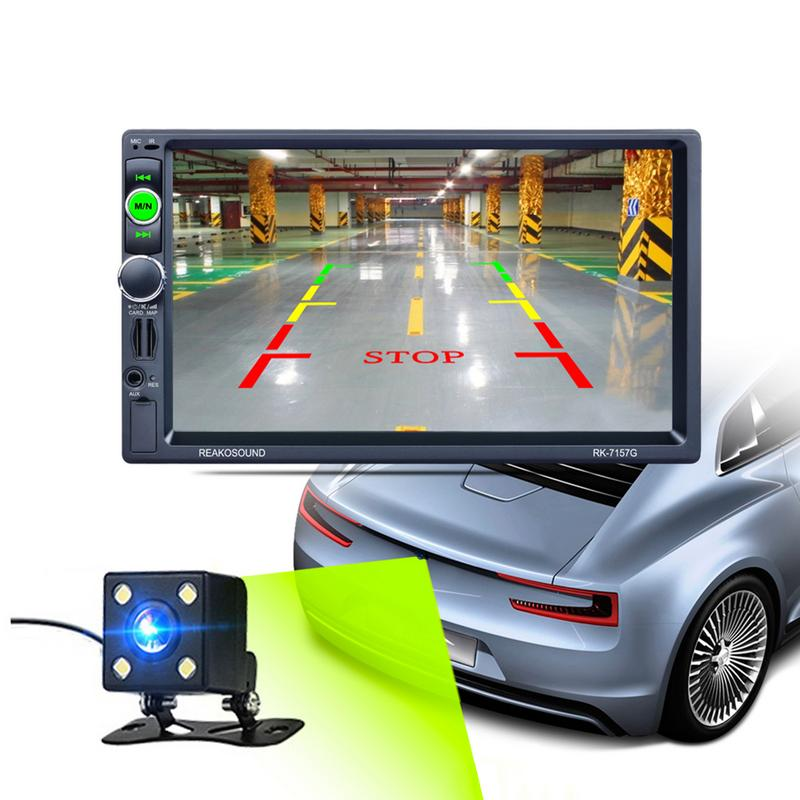 Professional 7Inch 5V 2.1A Car Dual Spindle Bluetooth MP5 Player Reversing Rear View Radio Media Player GPS Front USB2.0 Port