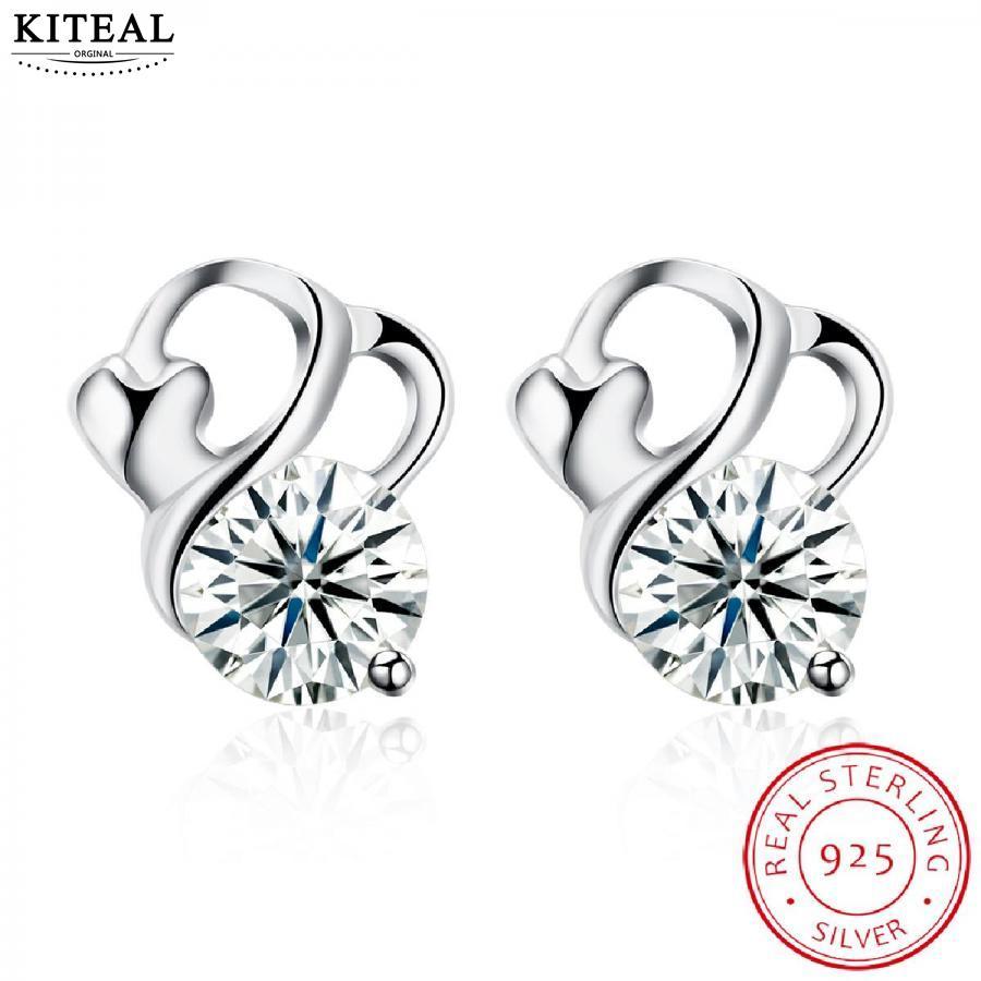 ff4e9dbb1 online shopping india 925 silver White Female Friend earrings flower sterling  silver orecchini men jewelry