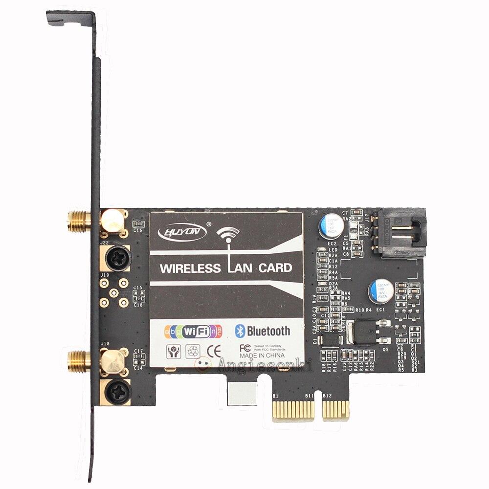 PCI E 1X 8X 16X 867Mbps WiFi+Bluetooth 4 0 PC Desktop WLAN