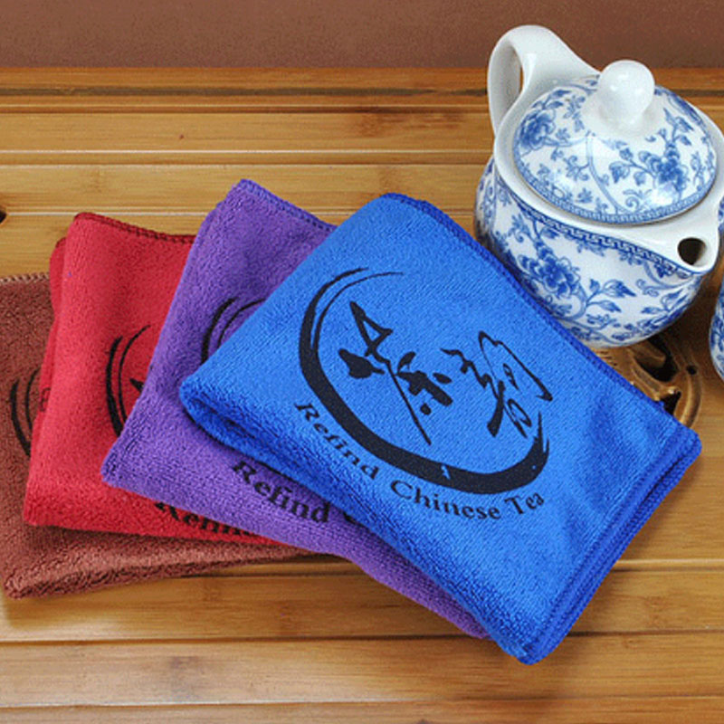 Microfiber Tea Towel Absorbent Strong Tea Cloth Easy To Clean Tea Accessories