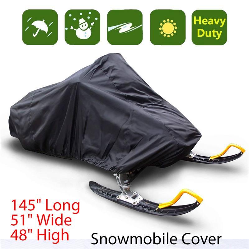 Snowmobile-Cover Dust-Trailerable Motorcyle Waterproof Outdoor Winter 368--130--121cm